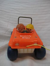 Fisher Price Bouncing Buggy Vintage 1973 Little People Pull Toy 122, ATV 6 Wheel