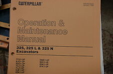 CAT Caterpillar 325 L N Excavator Trackhoe Operation Operator Maintenance Manual