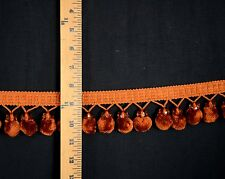 Beaded Copper Ball Fringe Pom Pom Trim