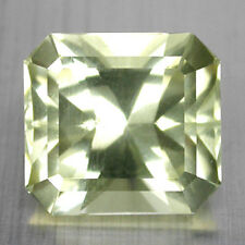 13.35CTS GORGEOUS RADIANT CUT NATURAL MILD GREENISH YELLOW ORTHOCLASE SEE VIDEO