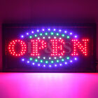 Top Quality Flashing Colour LED OPEN Shop Sign Neon Display Window Hanging Light