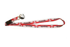 CANADA RED WHITE COUNTRY FLAG LANYARD KEYCHAIN PASSHOLDER .. NEW
