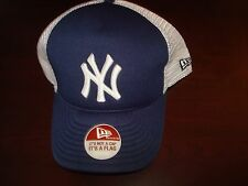 NEW YORK YANKEES TRUCKER  NEW ERA FITTED SZ 7 5/8  HAT CAP RETRO VINT SCRIPT