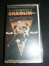 very rare TWO CHAMPIONS OF SHAOLIN VHS Movie ($69.95 list price) tracking issues