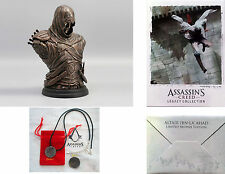 Assassins Creed Legacy Collection Altair Bronze Bust, Lithograph & Pendant New