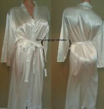 1x/2x/3x bridal ivory SATIN LONG ROBE womens LINGERIE PLUS SIZE 1x/2x/3x