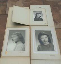 Lot of 3 Vintage 1950's Women High School Senior Portraits Yearbook Photos