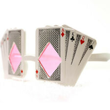 playing cards shaped party glasses,novelty poker shaped glasses,pink lenses
