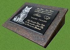 Tiergrabstein Grabplatte Foto Grabstein Granit Katze Hund Wunschgravur 40x30 cm