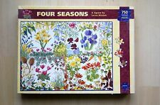 Four Seasons flowers 750 irregular shaped piece jigsaw puzzle