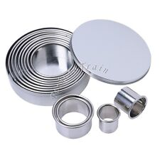 1 Set Round Shaped Stainless Steel Cookie Cutter Cookie Molds for Baking Pastry