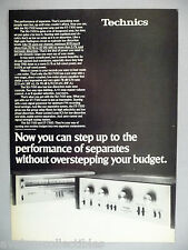 Technics Model SU-7100 & ST-7300 Stereo Receiver & Amplifier PRINT AD - 1977