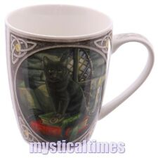 NEW MAGICAL BLACK CAT MUG CUP BY LISA PARKER WITH FREE POST