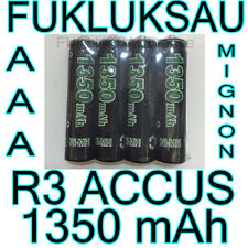 4 x PILES AAA | PILES ACCUS RECHARGEABLE MIGNON 1350mAh Ni-MH 1,2V R3 LR03 NEW