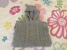 Baby Gap pull over hooded sweater cover Toddler Girl 12-18 months old