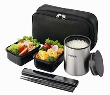 Thermos Lunch Box Tiger Vacuum Stainless Steel Bento Bottle LWY-R030-K F/S