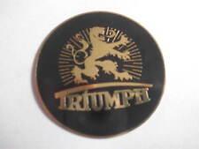 schild  Triumph  Typenschild TWN rechts schwarz/Messing