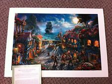 "Thomas Kinkade ""Pirates of the Caribbean "" Signed & Numbered Disney Lithograph"