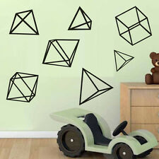 Sets Of Geometric Figure Home Kids Room Office DIY Wall Decal Removable Sticker