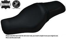 BLACK STITCH CUSTOM FOR HARLEY SPORTSTER 883 1200 TWO UP VINYL SEAT COVER