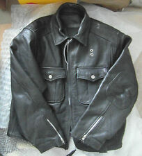VINTAGE LEATHER US POLICE STYLE JACKET NYPD CHP HEAVY STEERHIDE LARGE/XL