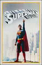 "Commercial Poster Superman the Movie 1978 VF+ 8.5 23""x36"" Christopher Reeve"