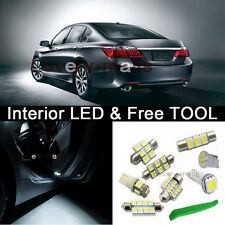 White LED lights interior package Kit Bulb for 2013-2016 Honda Accord  + TOOL Z1
