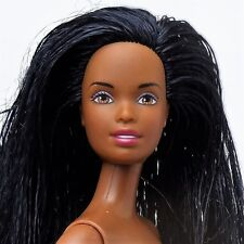 Barbie Christie Doll Raven hair Brown eyes Bendable legs Nude