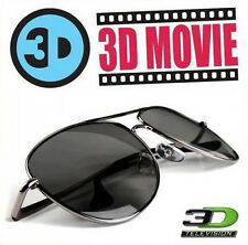 Aviator Style Passive Circular Polarized 3D Side By Side Glasses Samsung LG Sony