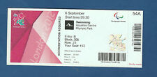 Orig.Ticket   Paralympics LONDON 2012 - SCHWIMMEN  06.09. / mit 15 Finals !! TOP