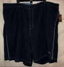 Caribbean Roundtree & Yorke Size 4XB Big Man Dark Navy New Mens Swimming Trunks