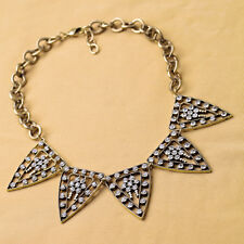 Women Unique Jewelry Chokers Gold Plated Crystal Pave Galaxy Statement Necklace
