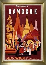 MAGNET Travel Poster Photo Magnet BANGKOK Air-India International