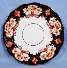 Royal Albert Heirloom Dessert Plate Crown China 4534 Blue Gold Rust Flowers