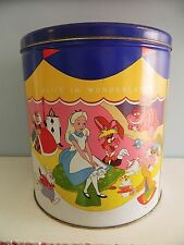 Disney Channel Popcorn Tin Robin Hood Alice Wonderland Sword in the Stone Vtg 80