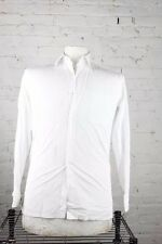Charvet Men's 100% Cotton White Button Front French Cuff Dress Shirt 16/35