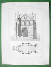ARCHITECTURE PRINT : France Chapel at L'Est Cemetery City of Angers