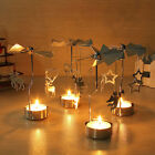 Xmas Rotating Rotary Spinning Carrousel Tea Light Candle Holder Center Decor