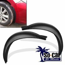 2X 32CM CAR CARBON FIBER STYLE FENDER FLARE WHEEL LIP GUARD PROTECTOR DECORATION
