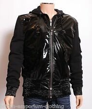 KARL LAGERFELD High Shine PVC hooded Jacket Coat BNWT Uk44