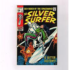 """SILVER SURFER (V1) #11 Grade 8.0 classic Silver Age tale: """"O, Bitter Victory!"""""""