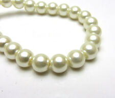 New 8MM 30pcs Charm Round  Beads Glass Spacer Pearls Milk White Color