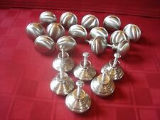 """20 BRUSHED NICKEL CHROME 1 1/4"""" ROUND CABINET DRAWER KNOBS PULLS **VERY GOOD**"""
