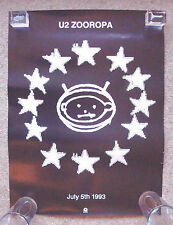 "U2 Zooropa POSTER July 5th 1993, tour, UK, 15"" X 20"" (38 cm x 51 cm)"