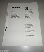 Teilekatalog / Spare Parts List Mengele Mais-Blitz MB 200 /  280 Stand 09/1981