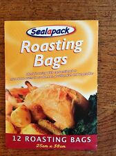 12 ROASTING BAGS - 25CM X 38CM SEALAPACK OVEN MEAT POULTRY FISH VEG FOR KITCHEN