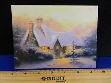 Christmas cards house sunset scene lot of 5 Thomas Kinkade Media prints 1996