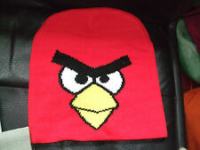 RED ANGRY BIRDS BEANIE HAT CHILDRENS FREE SIZE WINTER HAT