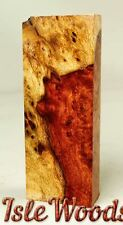 Twp Toned Amboyna Burl Knife Block 1911 Grips Pen Blanks  AB4856