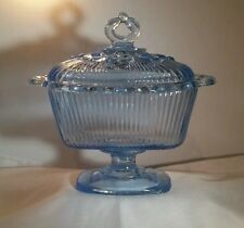Indiana Glass Light Blue Pedestal Compote/Candy Dish
